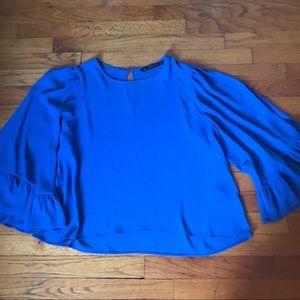 Flounce, bell sleeve blouse!